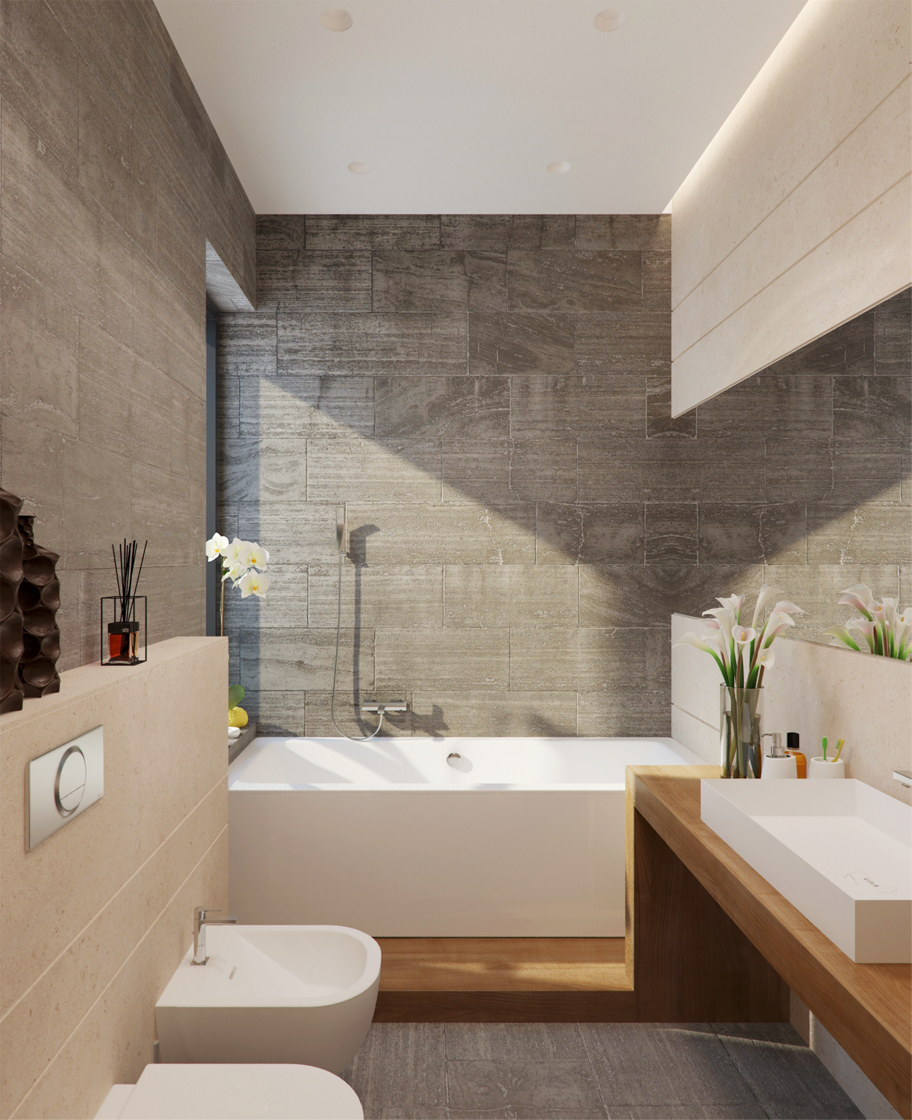 Badkamer met bad 1