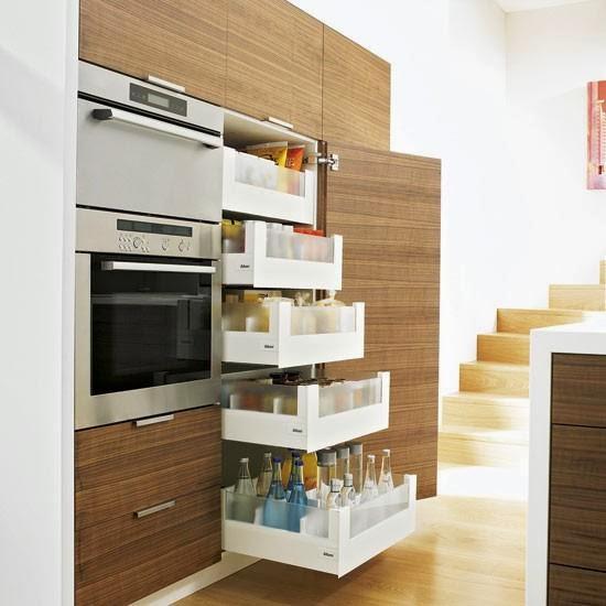 Keukenlades in de kast