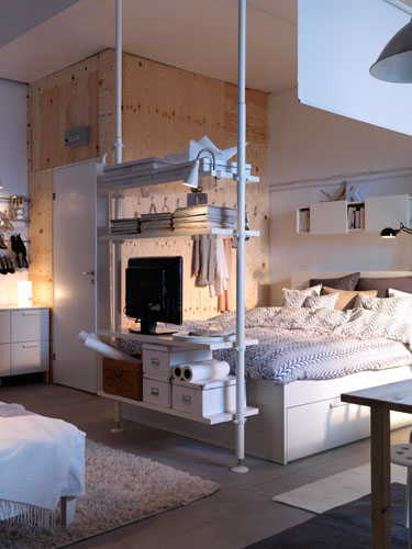 Roomdivider in een kleine ruimte