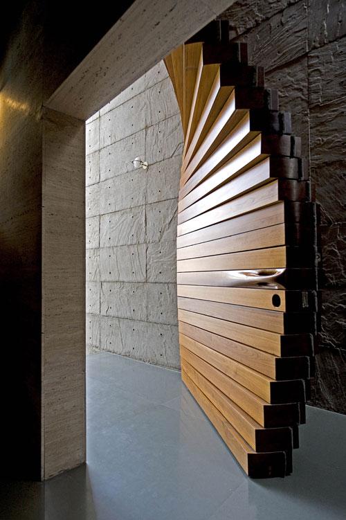 Curtain deur