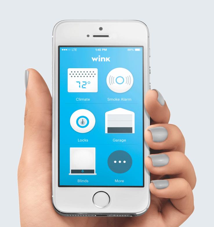 Smartphone met huis apps