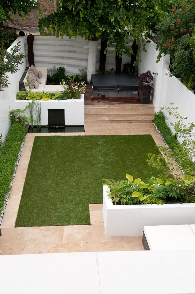 Afscheidingen en water in een kleinere tuin