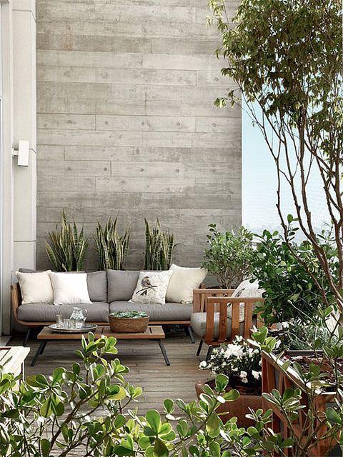 Planten op het terras