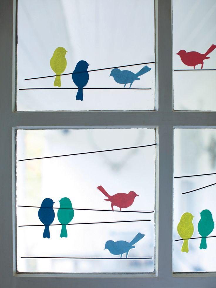 Raamsticker met vogels