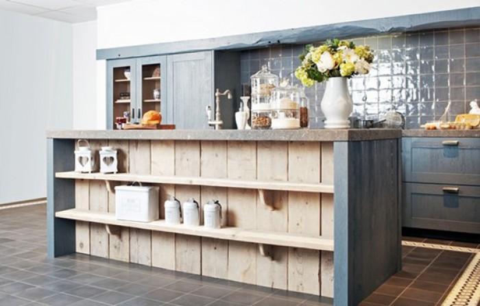wanden in keuken en woonkamer