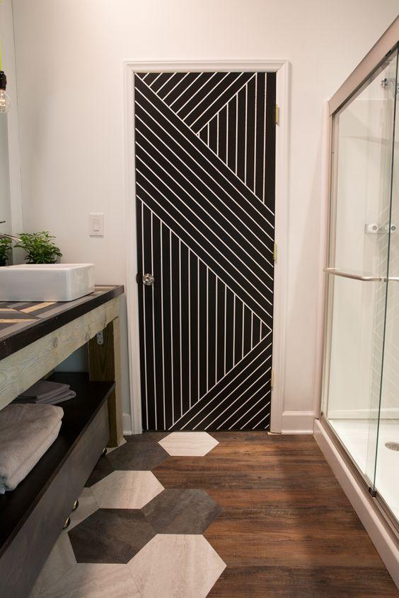 deur met een patroon