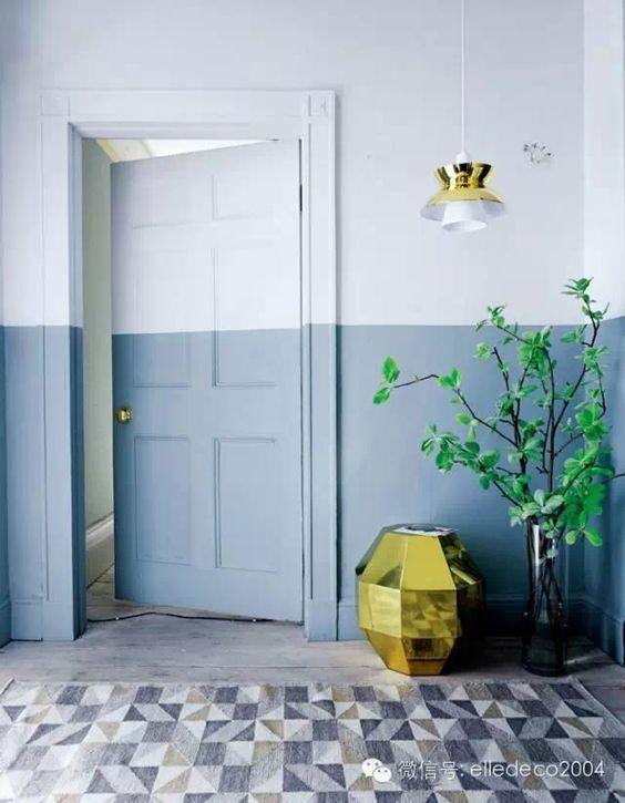 deur in twee kleuren