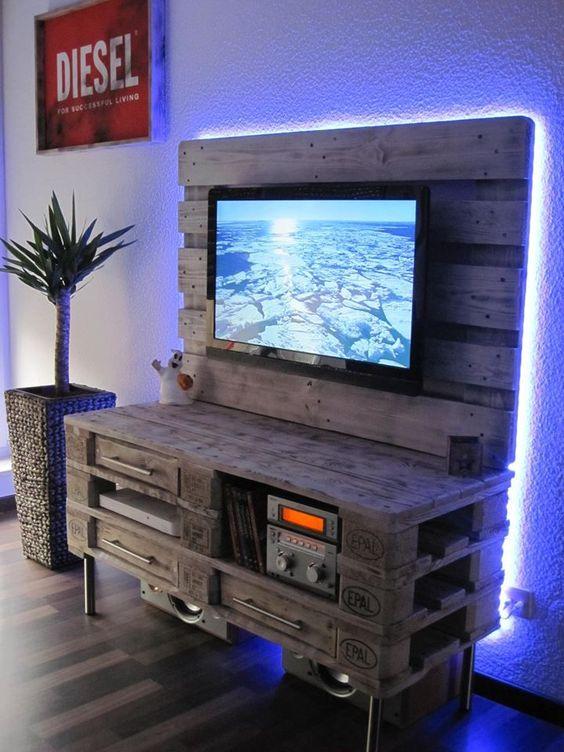 pallet tv meubel