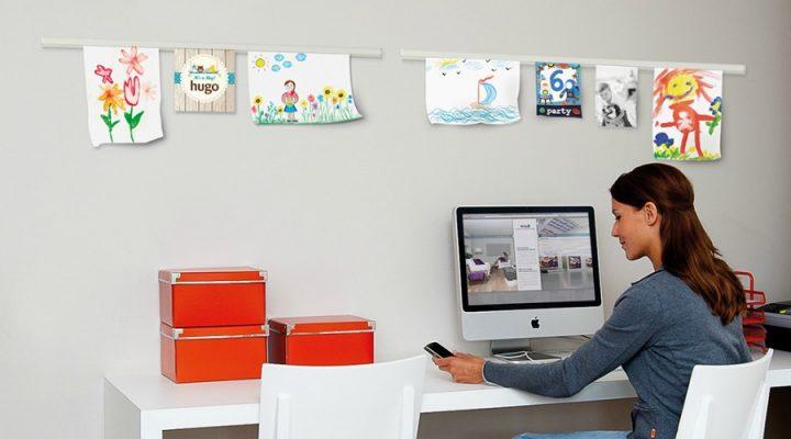 Creëer overzicht in huis met een info rail