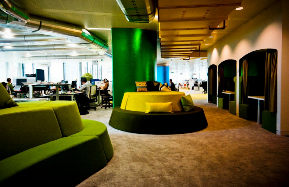 flexibele inrichting op kantoor